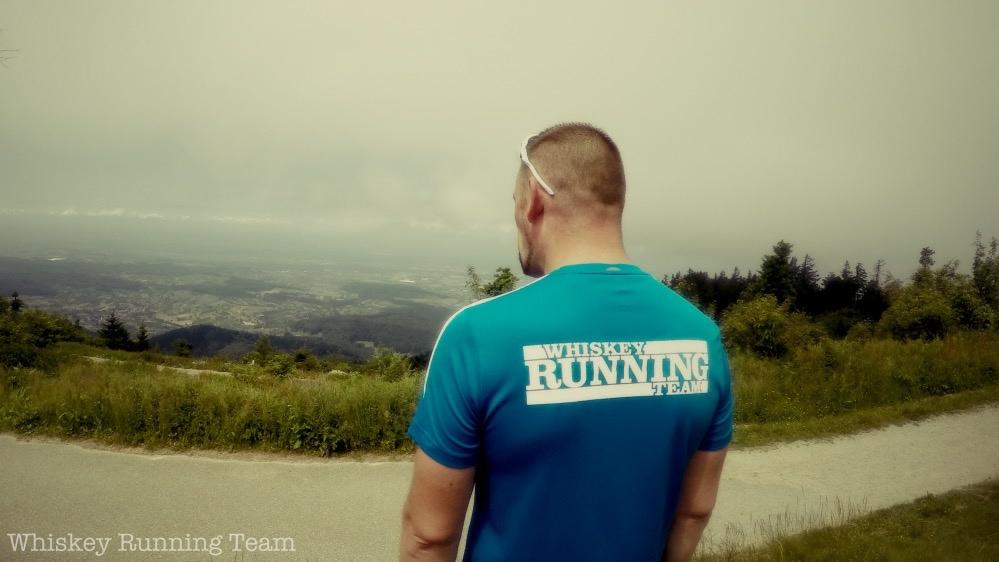 Hochblauen Berglauf