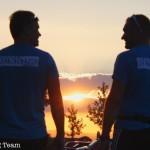 Sonnenuntergang beim Dorflauf Schlatt 2014